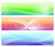 Three colorful web abstract banners Stock Photos