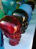 Mannequins doll glass heads Stock Image