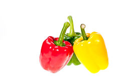 Three colors of bell pepper Stock Image