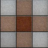 Three Colors Brick Pavers. Seamless Texture. Stock Images