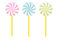 Three colors candy. Cartoon illustration Royalty Free Stock Image