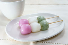 Three colors Dango Royalty Free Stock Photos