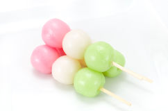 Three colors Dango Stock Photos