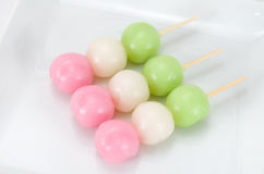 Three colors Dango Stock Photo