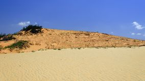 Three Colors of Dunes. Royalty Free Stock Photography