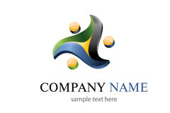 Three colors logo Royalty Free Stock Photo