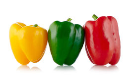 Three colors Paprika Stock Photography