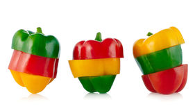 Three colors Paprika Royalty Free Stock Photos