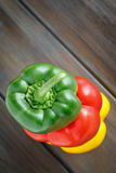 Three colors of Pepper Royalty Free Stock Photography