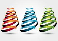 Colors ribbon. Three colors ribbon theme illustration stock illustration