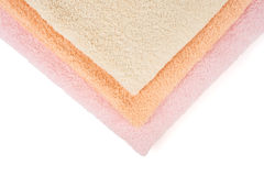 Three colors towels Stock Image
