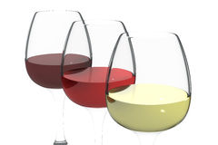 Three Colors of Wine Royalty Free Stock Image