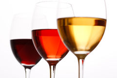 Three Colors of Wine Royalty Free Stock Images