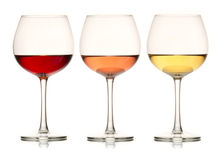 Three Colors of Wine Stock Photos
