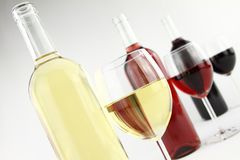 Three colors of wine Royalty Free Stock Photography