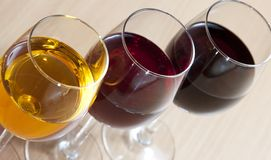 Three Colors of Wine Royalty Free Stock Photo