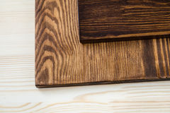 Three colors of wood royalty free stock images