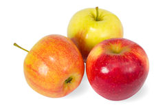 Three colour apples Royalty Free Stock Photo