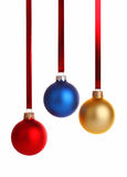 Three colour christmas decoration Stock Photo