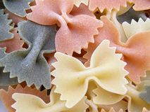 Three colour pasta Stock Images