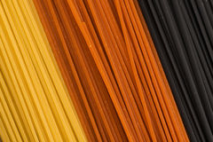 Three colour pasta Stock Photography