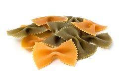 Three colour pasta farfalle Royalty Free Stock Photos