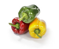 Three colour pepper Royalty Free Stock Photography