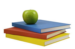 Three coloured books Royalty Free Stock Images