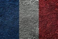 France flag on asphalt floor. stock photo