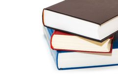 Three colourful books isolated Stock Images