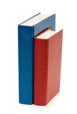 Three colourful books isolated. On the white Royalty Free Stock Photos
