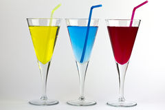 Three Colourful Cocktails Royalty Free Stock Photo