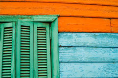 Three colours window Royalty Free Stock Images