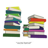 Three column of colored books Royalty Free Stock Photo