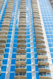 Three Columns of Balconies Royalty Free Stock Photography