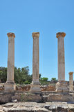 Three columns on a Roman amphitheater Royalty Free Stock Photos