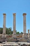 Three columns on a Roman amphitheater Royalty Free Stock Photos