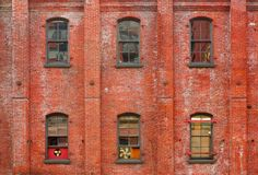 Three columns of windows Royalty Free Stock Photos
