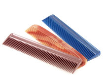 Three combs Royalty Free Stock Photos