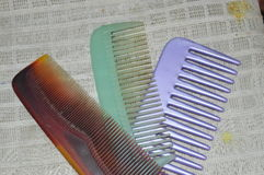 Three combs Stock Images