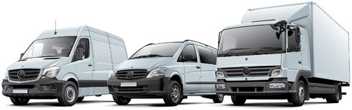 Three commercial vehicles Royalty Free Stock Image