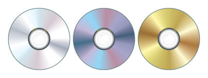 Three compact disc Stock Photo
