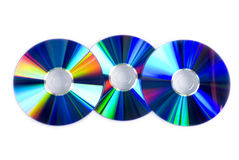 Three compact disk. S on isolated Royalty Free Stock Images