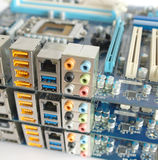 Three computer main boards. Stock Photos