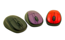 Three computer mouses Stock Image