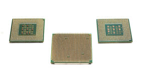 Three computer processors Royalty Free Stock Image