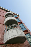 Three Concrete Balconies Stock Images