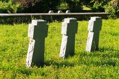 Three concrete crosses Royalty Free Stock Photos