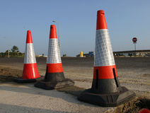 Three Cones. Three Traffic Cones royalty free stock image