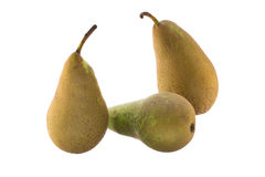 Three conference pears Royalty Free Stock Photo
